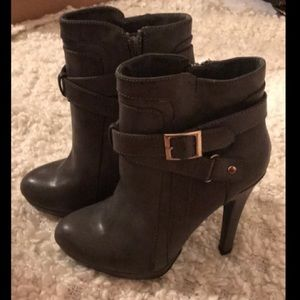 ff80c9970aba Charlotte Russe Charcoal Grey Heeled Booties